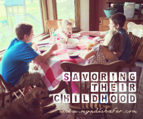 Savoring their childhood